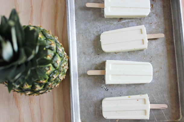 Pineapple Whip Popsicles (via www.laurahager.blogspot.com)