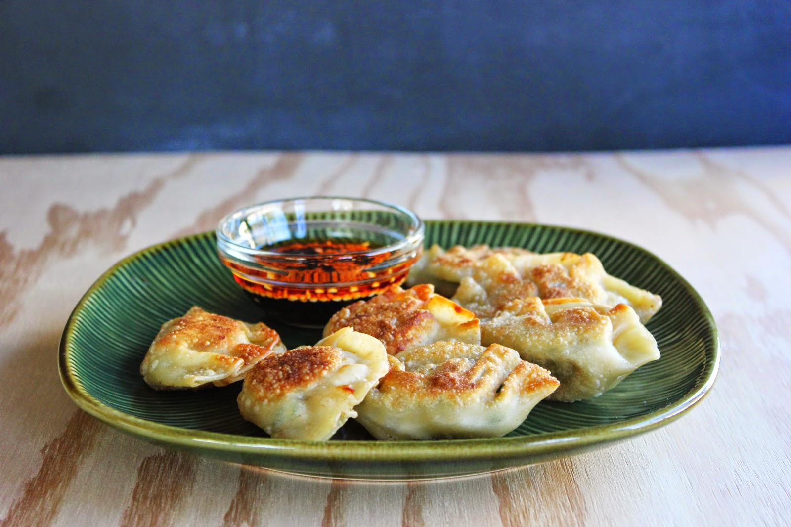 chive and pork pot stickers